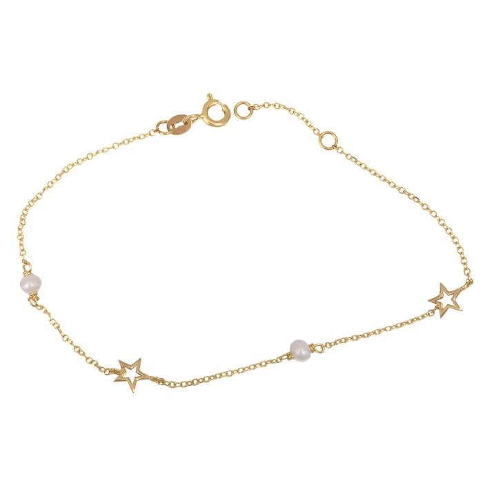 Γυναικείο βραχιόλι με αστεράκια Κ14 025553 025553 Χρυσός 14 Καράτια