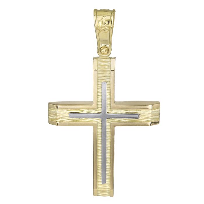 Σταυροί Βάπτισης - Αρραβώνα Ανδρικός κλασικός σταυρός 14Κ 025568 025568 Ανδρικό Χρυσός 14 Καράτια