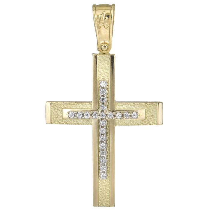 Σταυροί Βάπτισης - Αρραβώνα Κλασικός γυναικείος σταυρός 14Κ 025570 025570 Γυναικείο Χρυσός 14 Καράτια