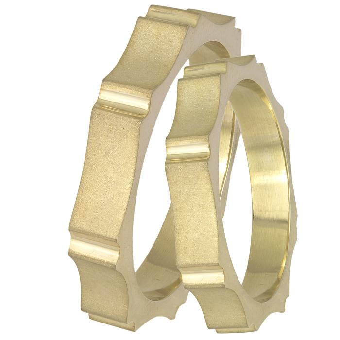Χρυσές ματ βέρες 14Κ με εξογκώματα 025586 025586 Χρυσός 14 Καράτια