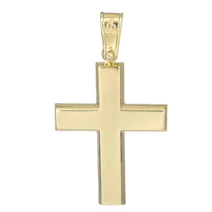 Σταυροί Βάπτισης - Αρραβώνα Κλασικός αντρικός σταυρός Κ14 025620 025620 Ανδρικό Χρυσός 14 Καράτια