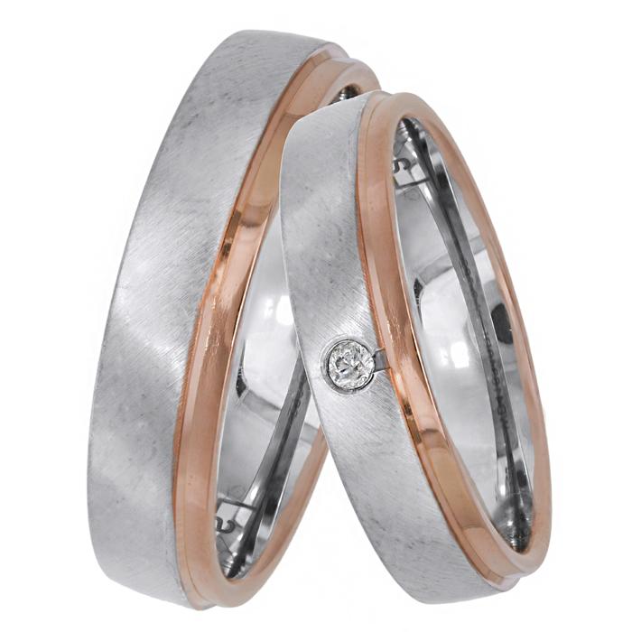 Βέρες γάμου - αρραβώνα με διαμάντι Κ14 025642 025642 Χρυσός 14 Καράτια