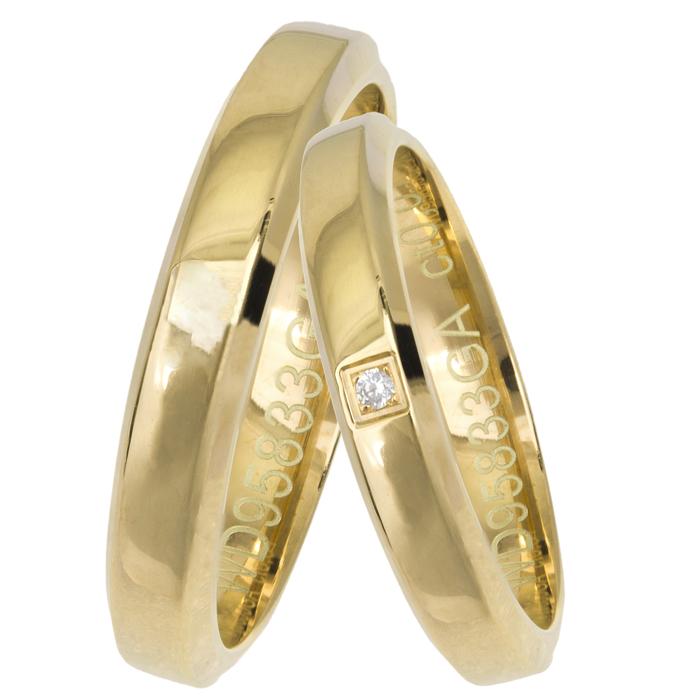 Χρυσές λουστρέ βέρες Κ14 025652 025652 Χρυσός 14 Καράτια