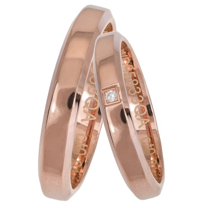 Ροζ gold βέρες γάμου Κ14 025654 025654 Χρυσός 14 Καράτια