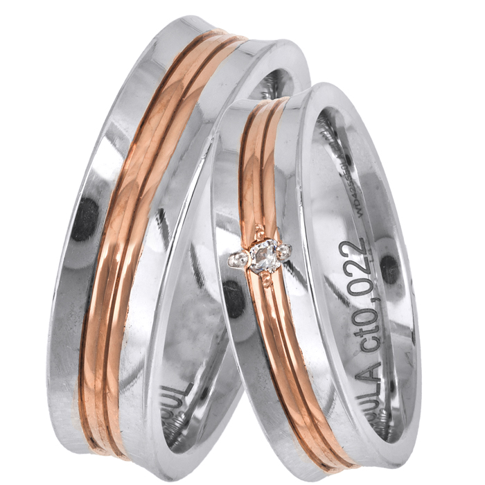 Ιταλικές βέρες γάμου Κ14 025674 025674 Χρυσός 14 Καράτια