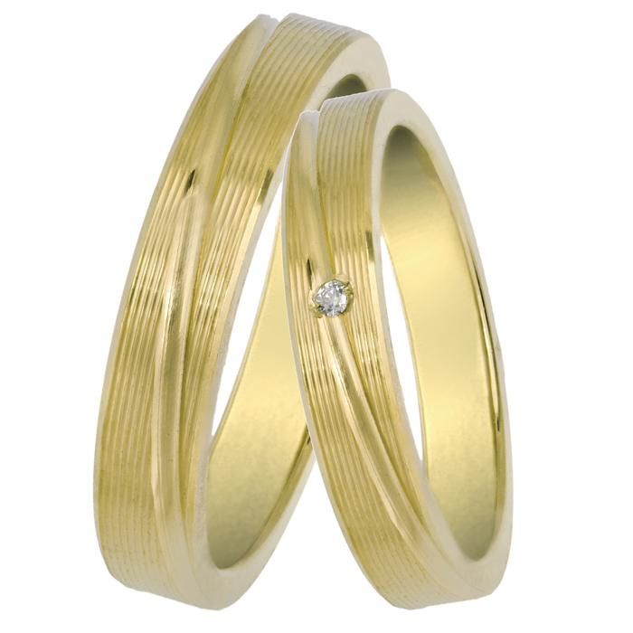 Χρυσές βέρες σκαλιστές Κ14 με διαμάντι 025686 025686 Χρυσός 14 Καράτια 9af3190ad9c