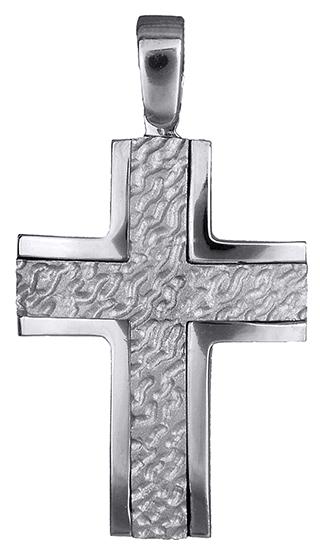 Σταυροί Βάπτισης - Αρραβώνα Σταυρός λευκόχρυσος 14Κ 002570 002570 Ανδρικό Χρυσός 14 Καράτια