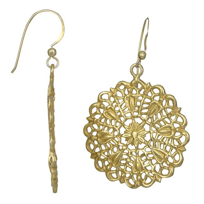 Γυναικεία επίχρυσα σκουλαρίκια 925 025705 025705 Ασήμι