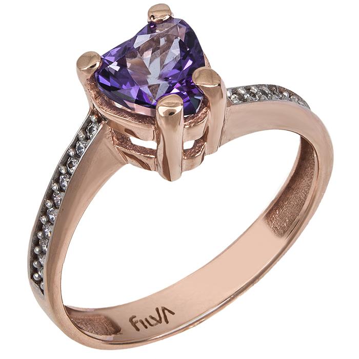 Ροζ gold δαχτυλίδι Swarovski K14 025740 025740 Χρυσός 14 Καρ...