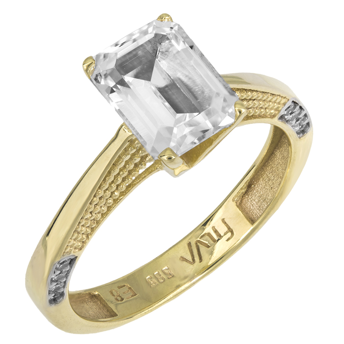 Γυναικείο μονόπετρο swarovski K14 025747 025747 Χρυσός 14 Κα...