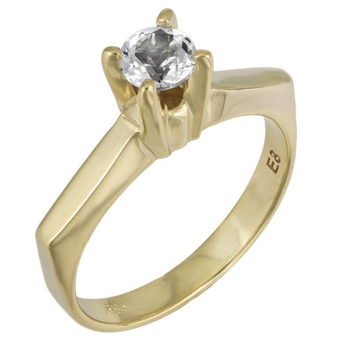 Χρυσό μονόπετρο swarovski με topaz πέτρα Κ14 025748 025748 Χρυσός 14 Καράτια
