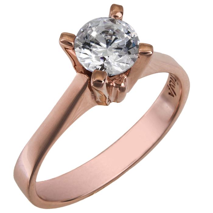 Δαχτυλίδι swarovski ροζ gold Κ14 με ορυκτή πέτρα topaz 025752 025752 Χρυσός 14 Καράτια