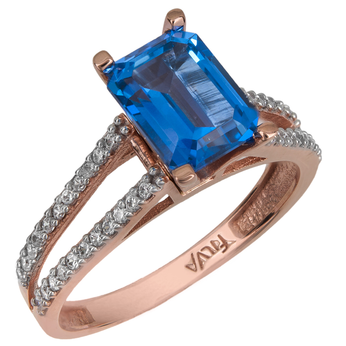 Ροζ gold δαχτυλίδι swarovski Κ14 025757 025757 Χρυσός 14 Καρ...
