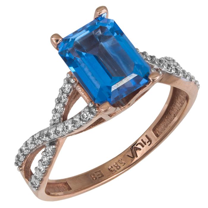Ροζ gold δαχτυλίδι Swarovski Κ14 025758 025758 Χρυσός 14 Καράτια