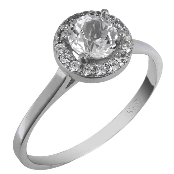 Μονόπετρο δαχτυλίδι swarovski λευκόχρυσο Κ14 025761 025761 Χρυσός 14 Καράτια