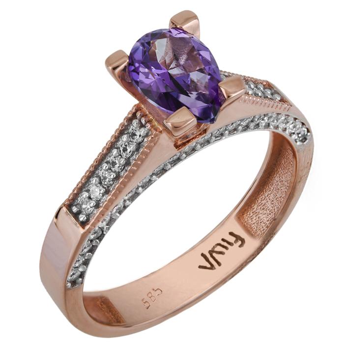 Δαχτυλίδι swarovski με topaz K14 025771 025771 Χρυσός 14 Καρ...