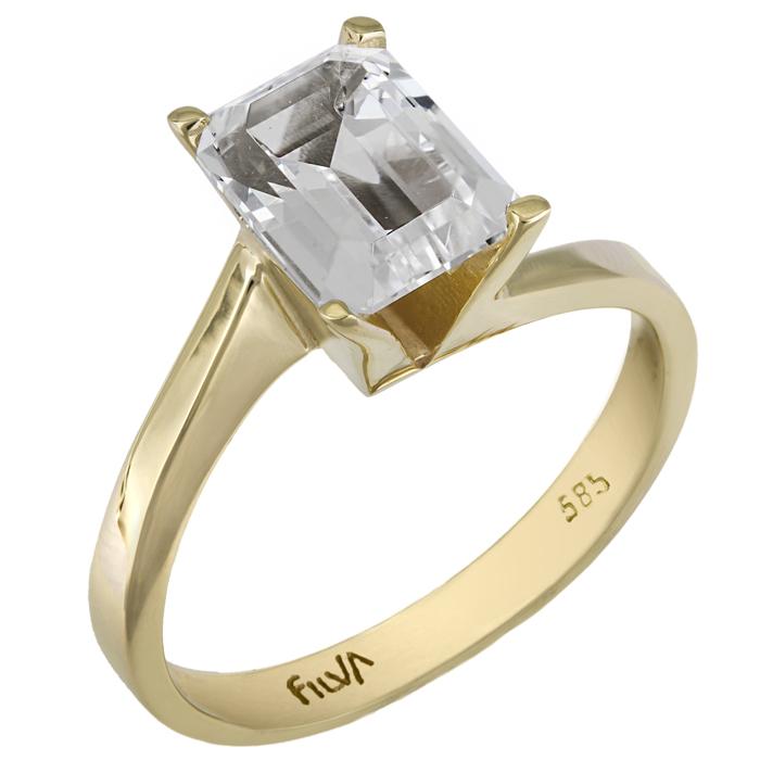 Μονόπετρο swarovski δαχτυλίδι από χρυσό Κ14 025772 025772 Χρυσός 14 Καράτια