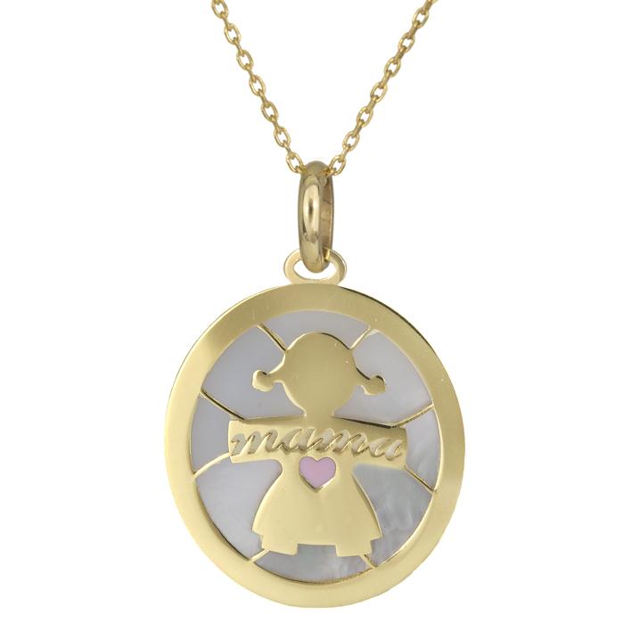 Γυναικείο κολιέ κύκλος με κορίτσι χρυσό 14Κ 025784C 025784C Χρυσός 14 Καράτια