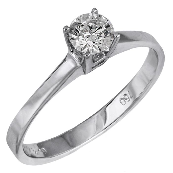 Λευκόχρυσο μονόπετρο πρότασης γάμου Κ18 με διαμάντι 025806 025806 Χρυσός 18 Καράτια