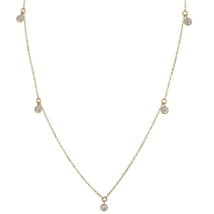 Χρυσό κολιέ 14Κ με κρεμαστές πετρούλες 025816 025816 Χρυσός 14 Καράτια