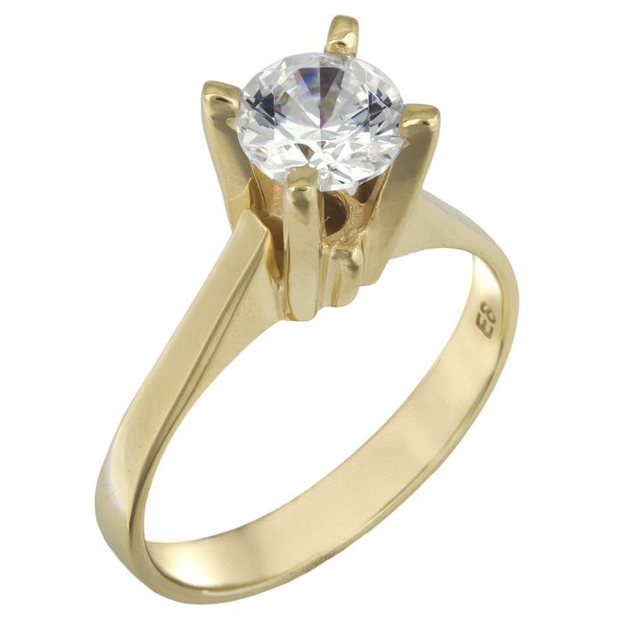 Χειροποίητο χρυσό μονόπετρο swarovski Κ14 025841 025841 Χρυσός 14 Καράτια