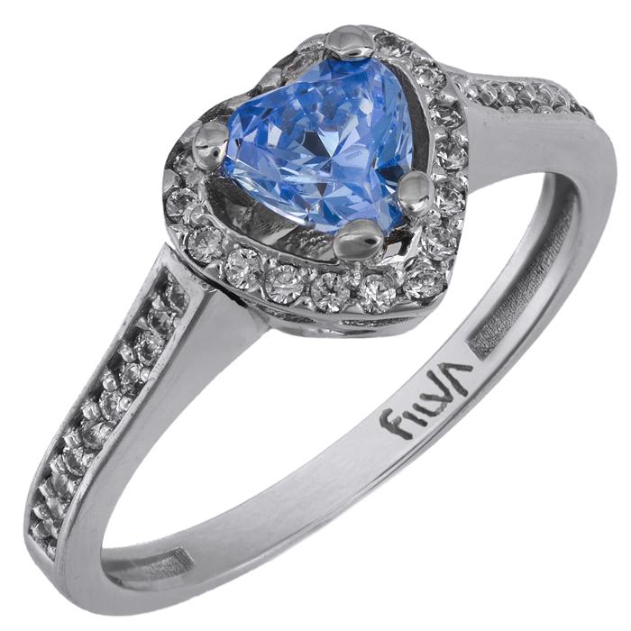 Λευκόχρυσο δαχτυλίδι καρδούλα Κ14 025863 025863 Χρυσός 14 Καράτια