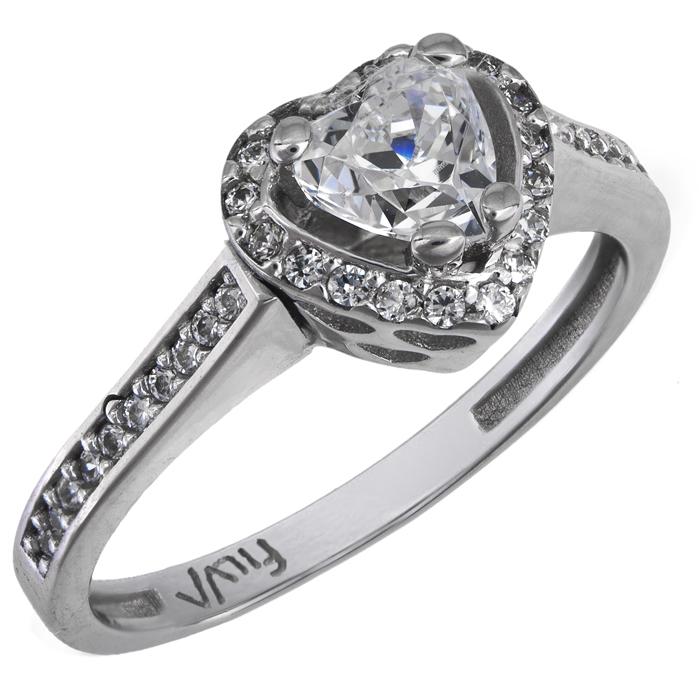 Δαχτυλίδι καρδιά swarovski λευκόχρυσο Κ14 025864 025864 Χρυσός 14 Καράτια