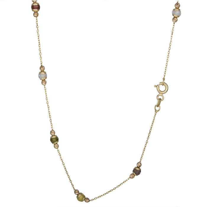 Χρυσό κολιέ με πέτρες Κ14 025900 025900 Χρυσός 14 Καράτια