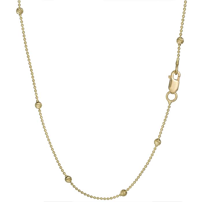 Χρυσό κολιέ με μπίλιες ανάγλυφες 14Κ 025908 025908 Χρυσός 14 Καράτια
