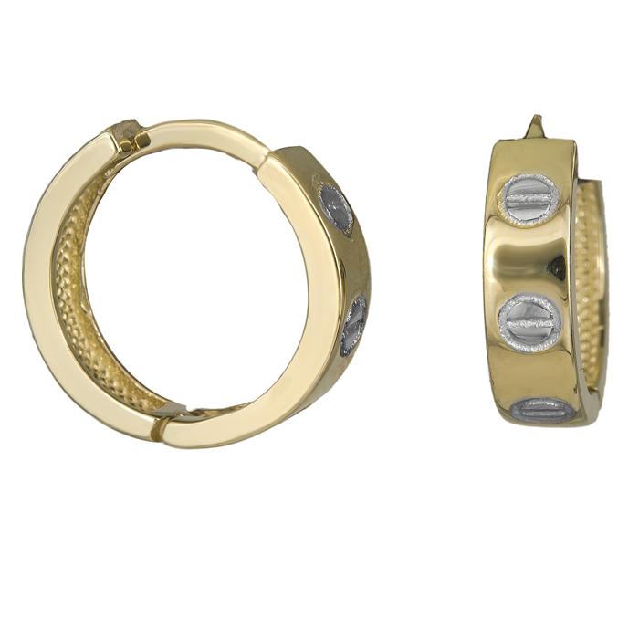 Χρυσοί κρίκοι βίδες Κ14 025915 025915 Χρυσός 14 Καράτια