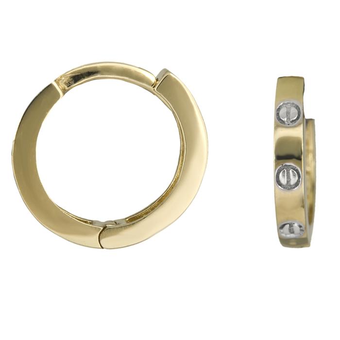 Χρυσά κρικάκια με ιδιαίτερο σχέδιο Κ14 025916 025916 Χρυσός 14 Καράτια
