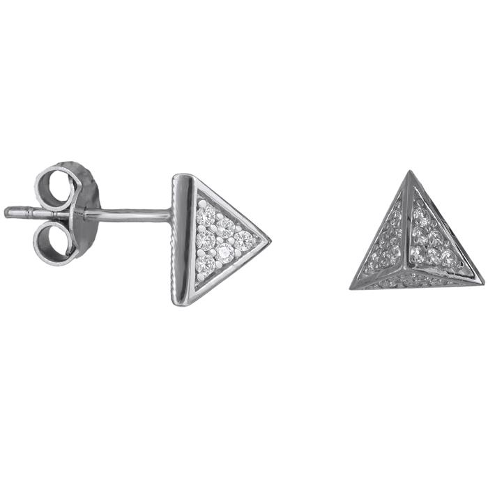 Λευκόχρυσα σκουλαρίκια πυραμίδα Κ14 025919 025919 Χρυσός 14 Καράτια