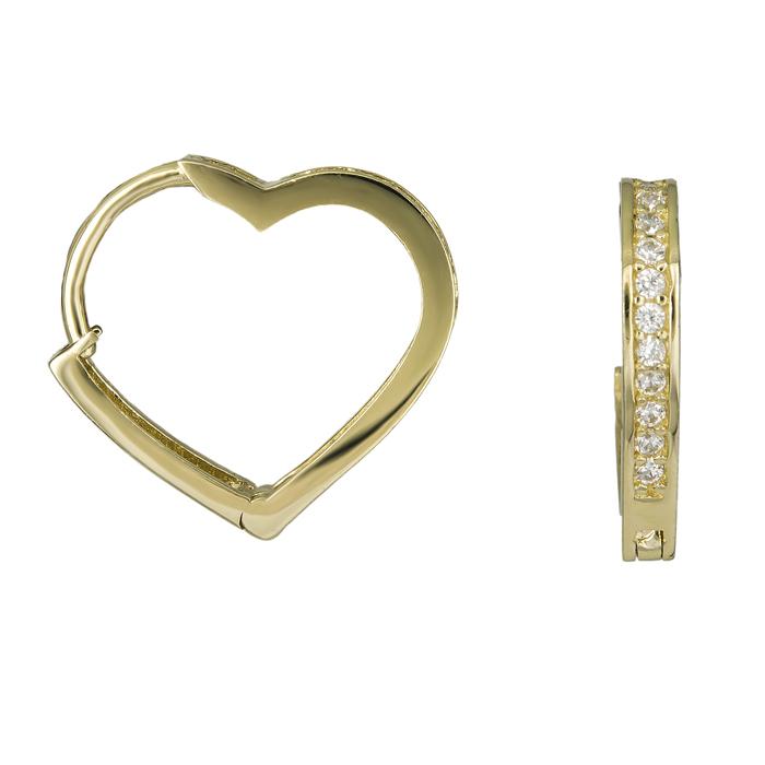 Χρυσά κρικάκια καρδούλες Κ14 025926 025926 Χρυσός 14 Καράτια