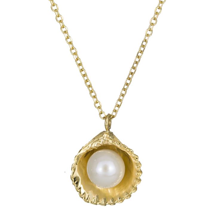 Χρυσό κολιέ κοχύλι με μαργαριτάρι 14Κ 025929 025929 Χρυσός 14 Καράτια