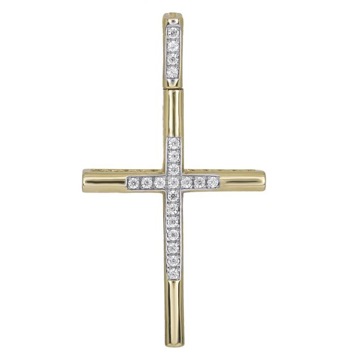 Σταυροί Βάπτισης - Αρραβώνα Πετράτος χρυσός σταυρός Κ14 γυναικείος 025942 025942 Γυναικείο Χρυσός 14 Καράτια