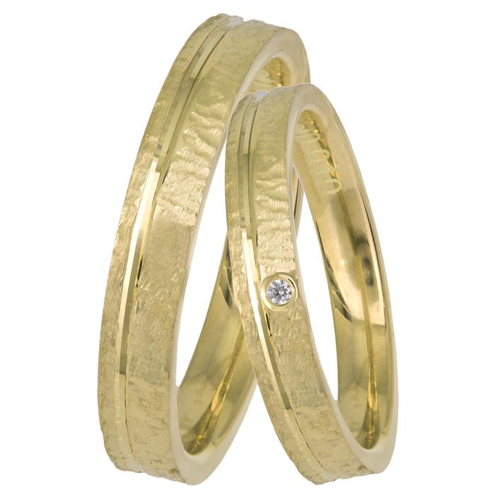 Σφυρήλατες χρυσές βέρες Κ14 025971 025971 Χρυσός 14 Καράτια