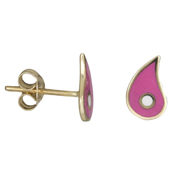 Χρυσά σκουλαρίκια λαχούρια Κ9 025992 025992 Χρυσός 9 Καράτια