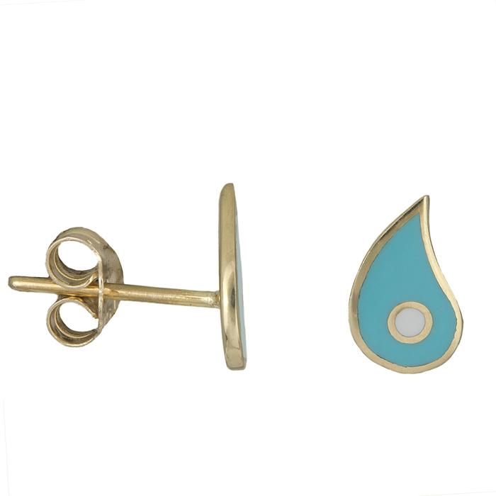 Γυναικεία σκουλαρίκια λαχούρια Κ9 025993 025993 Χρυσός 9 Καράτια