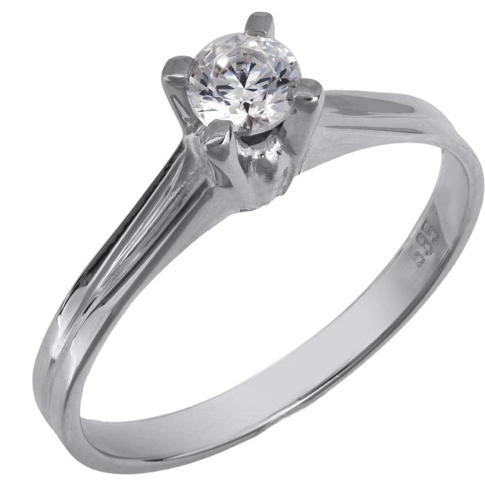 Δαχτυλίδι μονόπετρο με πέτρα swarovski Κ14 025999 025999 Χρυσός 14 Καράτια