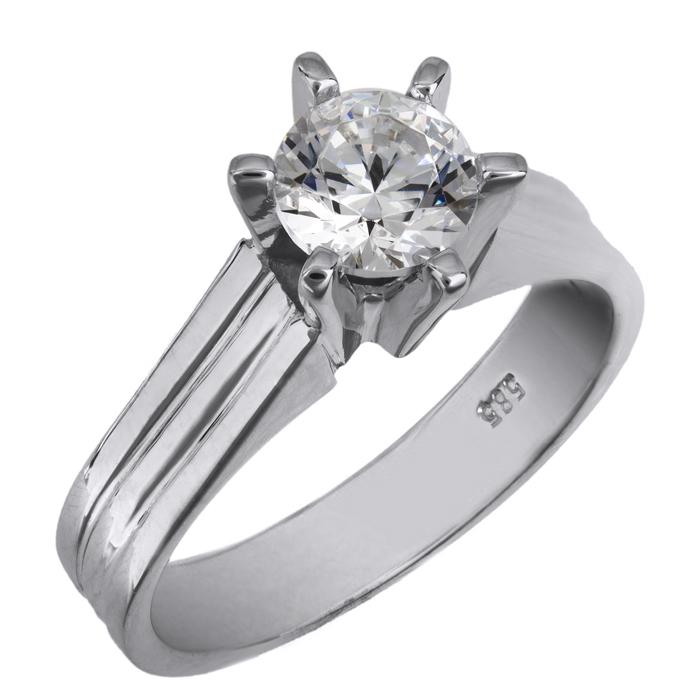 Λευκόχρυσο swarovski δαχτυλίδι Κ14 026001 026001 Χρυσός 14 Καράτια