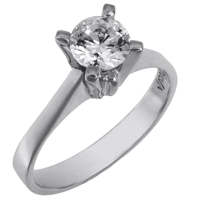 Swarovski μονόπετρο για πρόταση γάμου λευκόχρυσο Κ14 026002 026002 Χρυσός 14 Καράτια