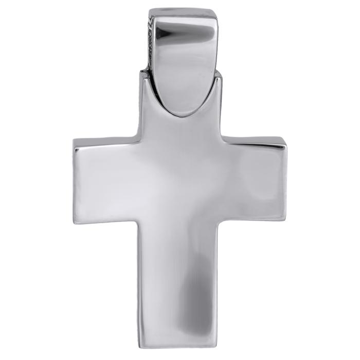 Σταυροί Βάπτισης - Αρραβώνα Λευκόχρυσος αντρικός σταυρός 026026 026026 Ανδρικό Χρυσός 14 Καράτια