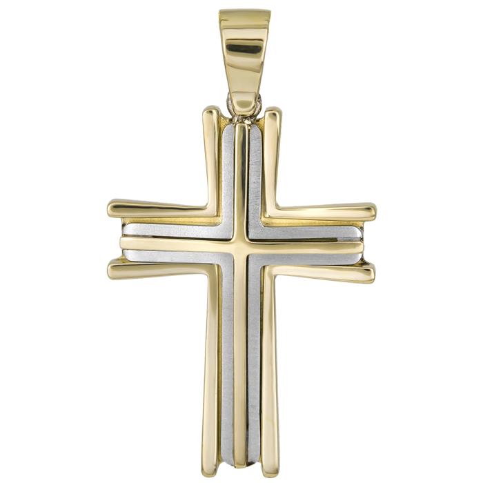 Σταυροί Βάπτισης - Αρραβώνα Κλασικός αντρικός σταυρός Κ14 026027 026027 Ανδρικό Χρυσός 14 Καράτια