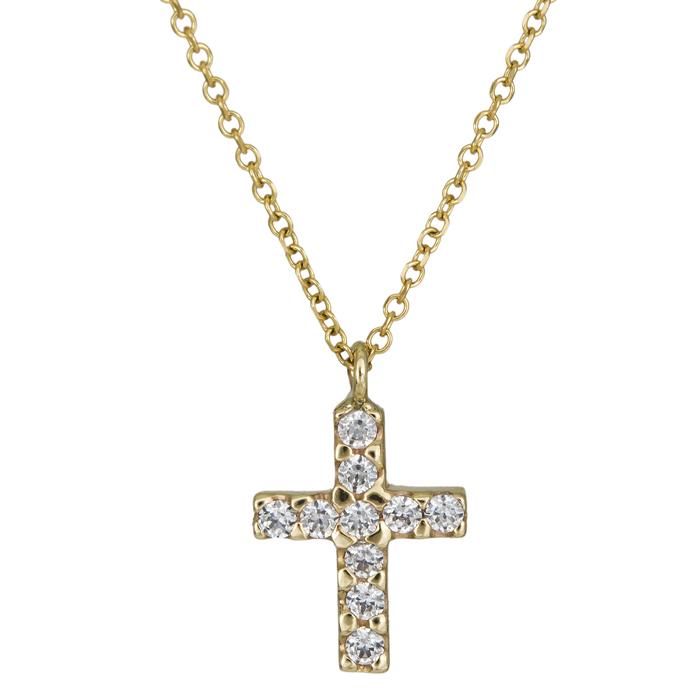 Χρυσό πετράτο σταυρουδάκι Κ9 026049 026049 Χρυσός 9 Καράτια