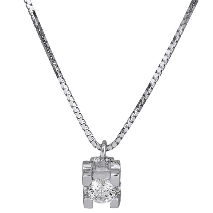 Λευκόχρυσο κολιέ με διαμάντι Κ18 026063 026063 Χρυσός 18 Καράτια