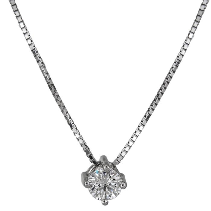 Γυναικείο κολιέ με διαμάντι Κ18 026080 026080 Χρυσός 18 Καράτια