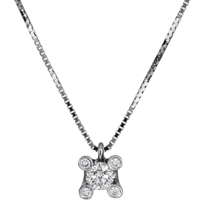 Γυναικείο κολιέ με διαμάντια Κ18 026085 026085 Χρυσός 18 Καράτια