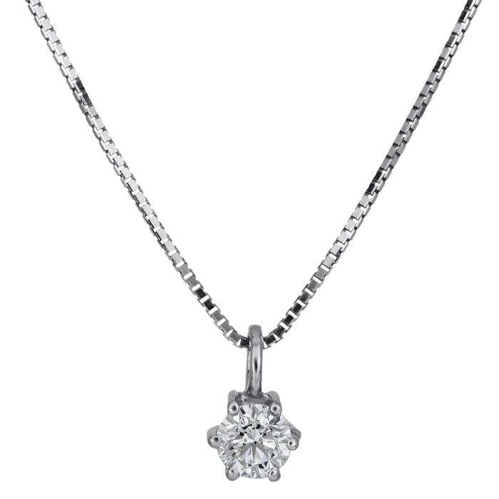 Διαμαντένιο κολιέ λευκόχρυσο Κ18 026089 026089 Χρυσός 18 Καράτια