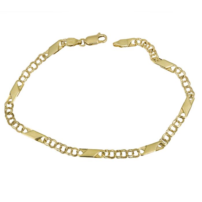 Ανδρική χρυσή καδένα χεριού Κ14 026101 026101 Χρυσός 14 Καράτια