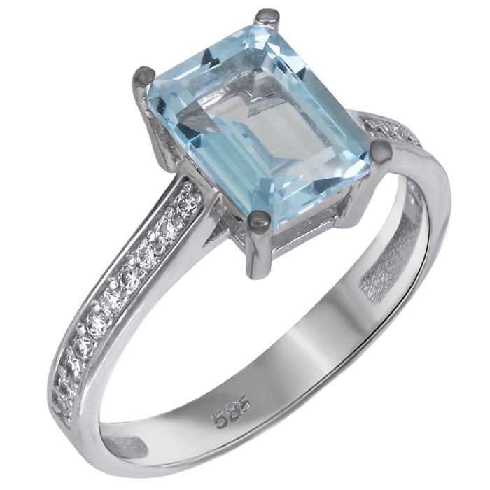 Δαχτυλίδι swarovski με ορυκτές πέτρες λευκόχρυσο Κ14 026117 026117 Χρυσός 14 Καράτια